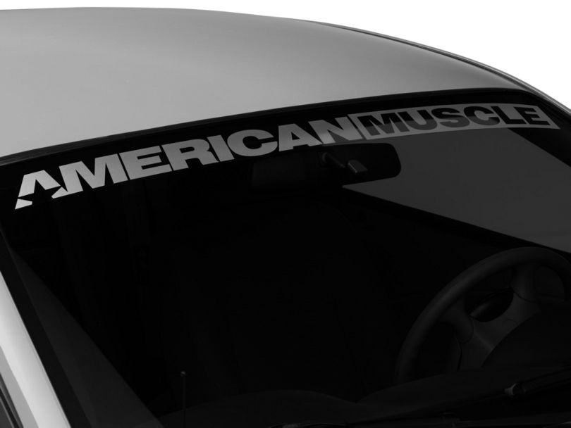 American Muscle Graphics AmericanMuscle Windshield Banner - Frosted (94-04 All)