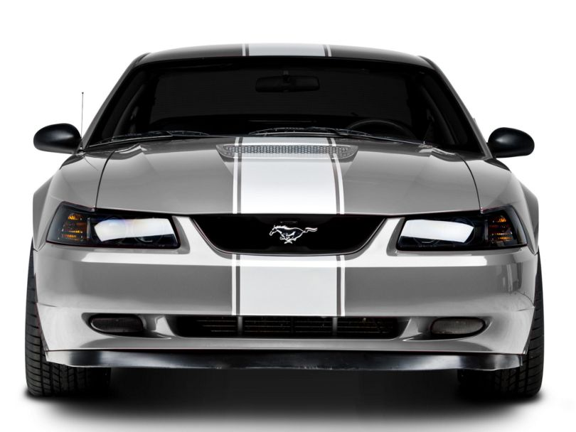 American Muscle Graphics White Super Snake Style Stripe Kit (94-04 All)