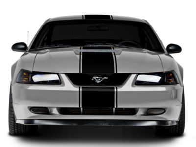 American Muscle Graphics Black Super Snake Style Stripe Kit (94-04 All)