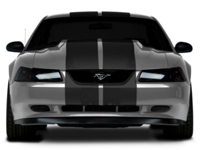American Muscle Graphics Matte Black Lemans Stripes - 12 in. (94-04 All)