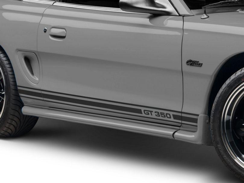 American Muscle Graphics Matte Black Rocker Stripes w/ GT350 (94-04 All)