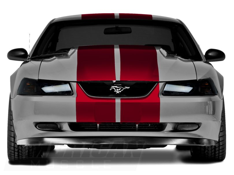 American Muscle Graphics Lemans Stripes; Red; 12-Inch (94-04 All)