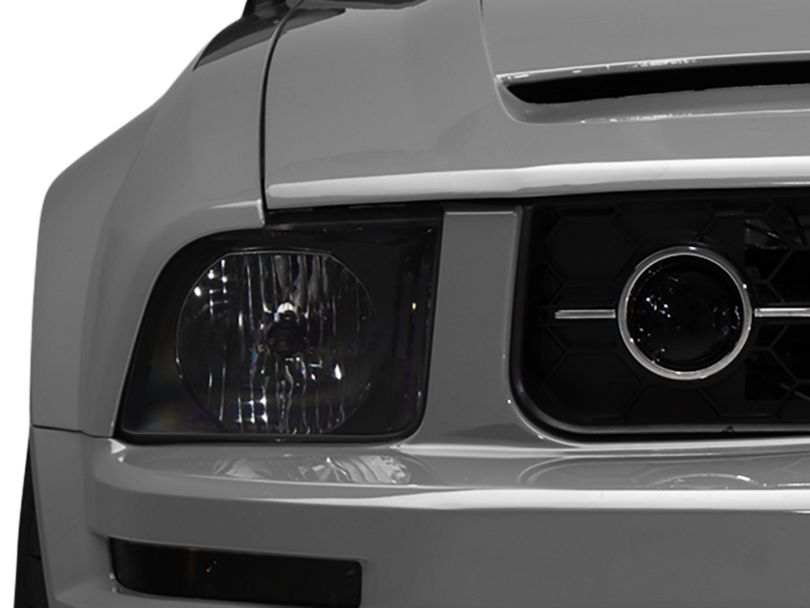 American Muscle Graphics Fog Light Tint; Smoked (05-09 V6 w/ Pony Package)