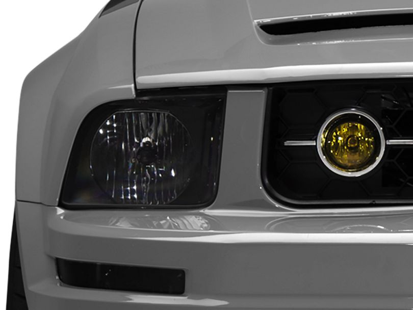 American Muscle Graphics Fog Light Tint; Yellow (05-09 V6 w/ Pony Package)