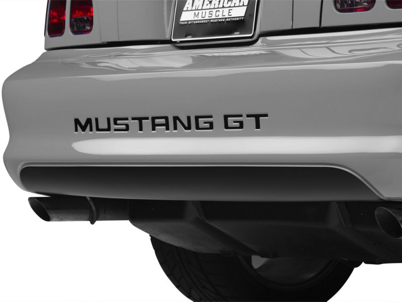 American Muscle Graphics Lower Rear Valance Decal; Matte Black (94-98 All)