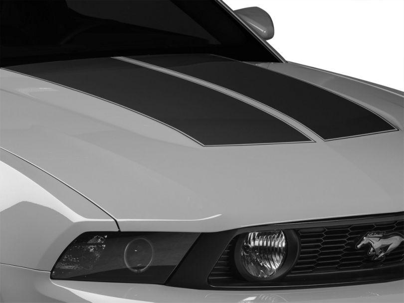 American Muscle Graphics Matte Black Dual Hood Stripe (10-12 All)