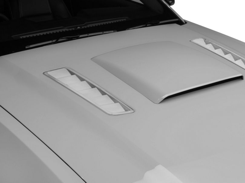 American Muscle Graphics Hood Vent Accent Decal - Chrome (13-14 All)