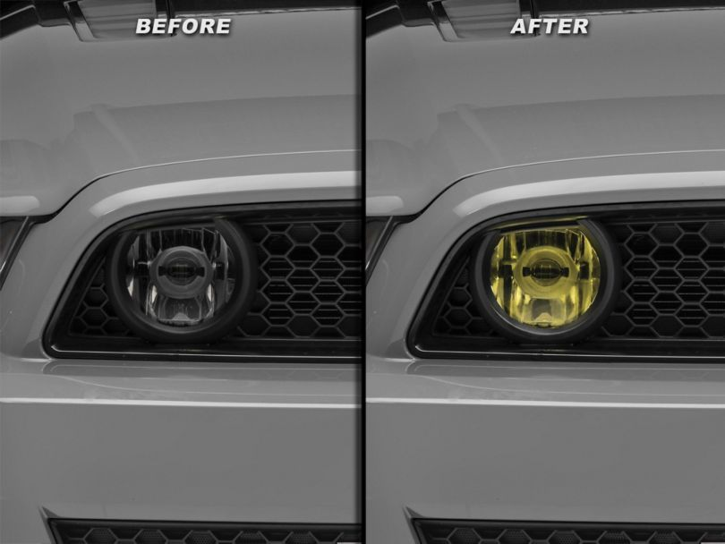 American Muscle Graphics Fog Light Tint; Yellow (13-14 GT)