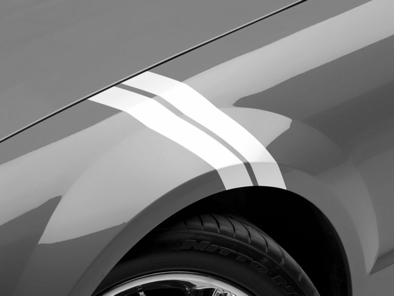 American Muscle Graphics White Hash Marks (05-14 All)