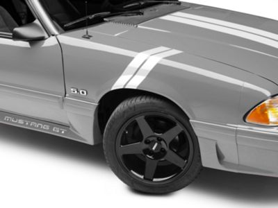 American Muscle Graphics White Hash Marks - Pair (79-93 All)