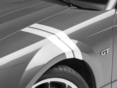 American Muscle Graphics White Hash Marks - Pair (94-04 All)
