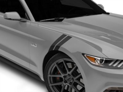 American Muscle Graphics Matte Black Hash Marks - Pair (15-19 All)