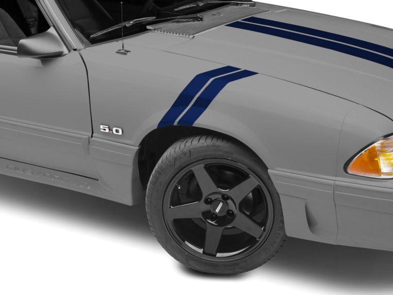 American Muscle Graphics Blue Hash Marks (79-93 All)