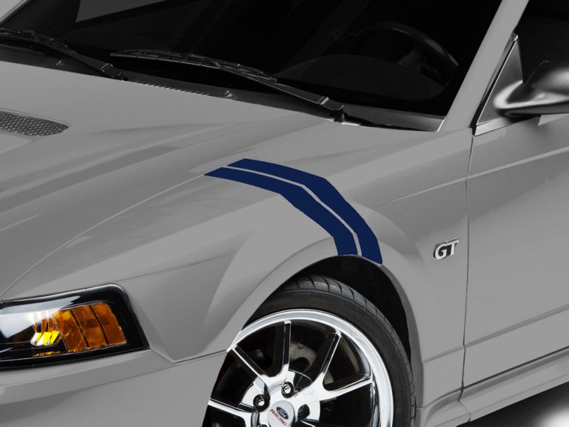 American Muscle Graphics Blue Hash Marks (94-04 All)