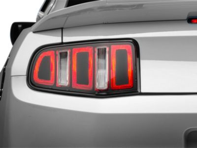 American Muscle Graphics Tail Light Conversion Decal Kit - Matte Black (10-12 All)