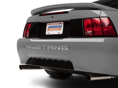 American Muscle Graphics Silver Vinyl Bumper Insert Letters (99-04 GT, V6, Mach 1; 1999 Cobra)