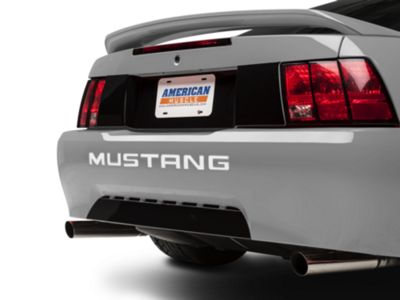 American Muscle Graphics White Vinyl Bumper Insert Letters (99-04 GT, V6, Mach 1; 1999 Cobra)