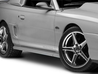 American Muscle Graphics Silver Rocker Stripes w/ Mustang Lettering (79-19 All)