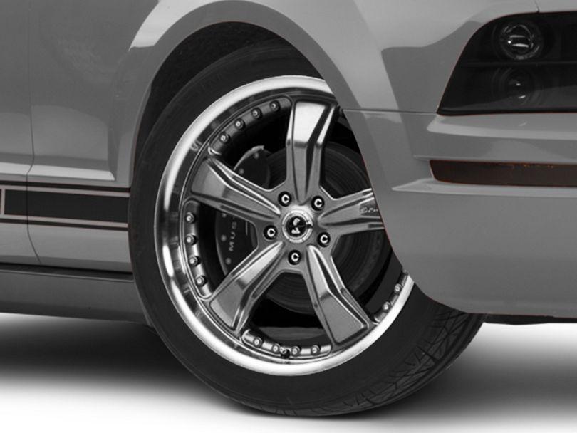 Shelby Razor Gunmetal Wheel; 20x9 (05-09 All)