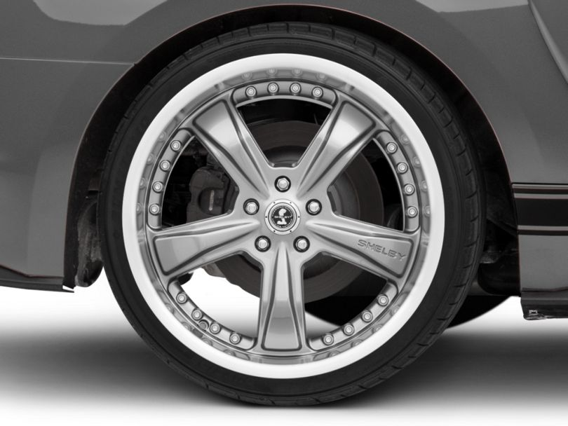 Shelby Razor Gunmetal Wheel; Rear Only; 20x10 (15-20 GT, EcoBoost, V6)