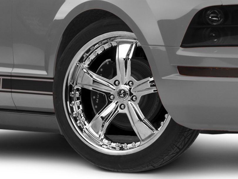 Shelby Razor Chrome Wheel; 20x9 (05-09 All)