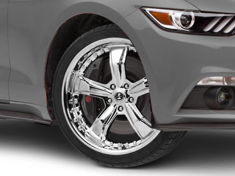 Shelby Razor Chrome Wheel; 20x9 (15-20 GT, EcoBoost, V6)