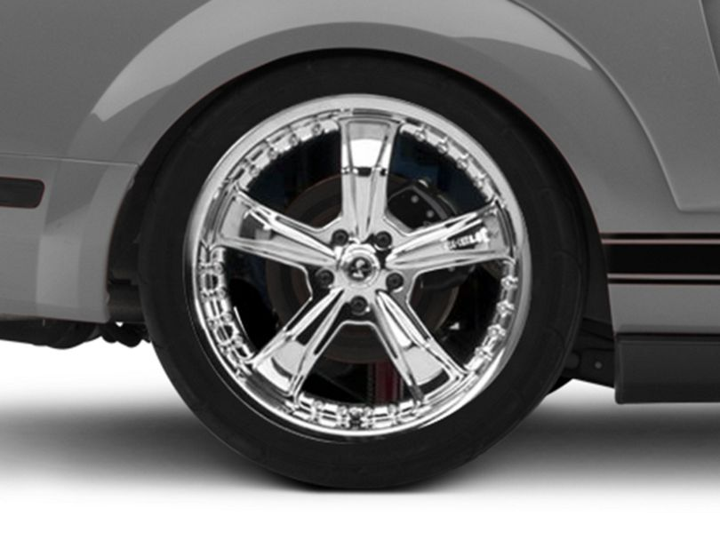 Shelby Razor Chrome Wheel - 20x10 - Rear Only (05-09 All)