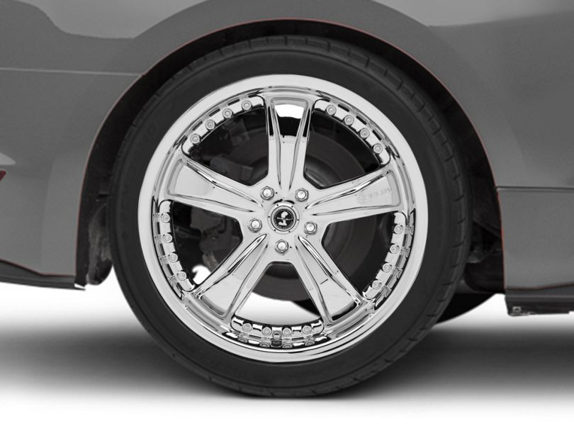 Shelby Razor Chrome Wheel; Rear Only; 20x10 (15-20 GT, EcoBoost, V6)