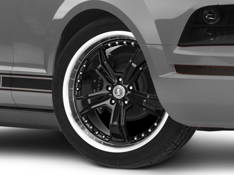 Shelby Razor Black Wheel; 20x9 (05-09 All)
