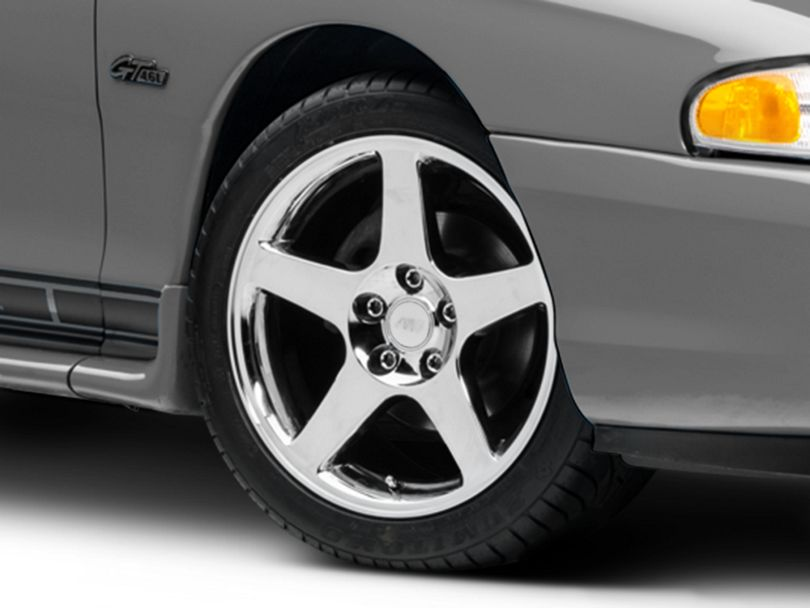 2003 Cobra Style Chrome Wheel; 17x9 (94-98 All)