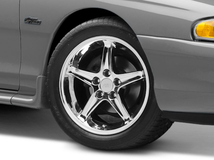 1995 Cobra R Style Chrome Wheel; 17x9 (94-98 All)