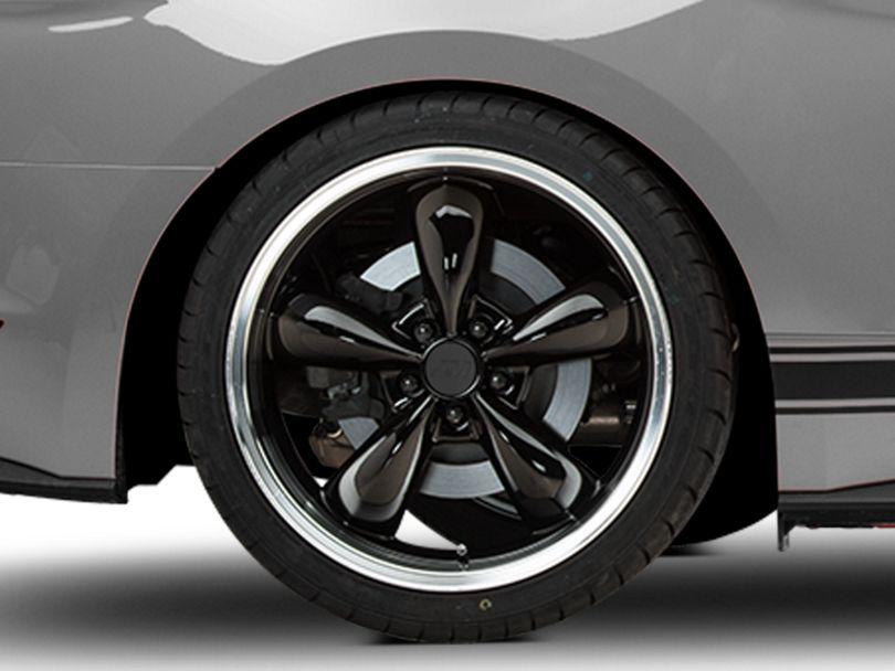 Deep Dish Bullitt Black Wheel; Rear Only; 20x10 (15-20 EcoBoost, V6)