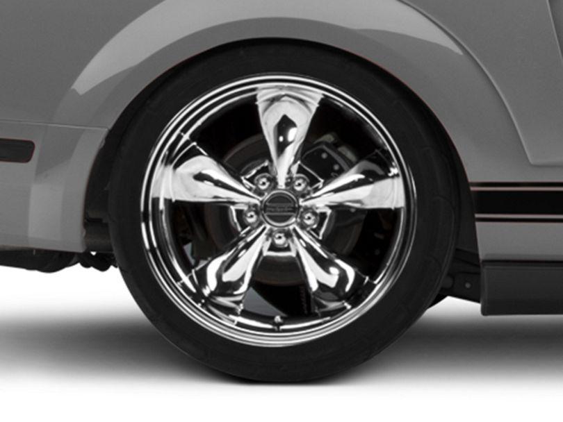Deep Dish Bullitt Chrome Wheel; Rear Only; 20x10 (05-09 GT, V6)