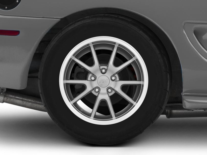 Deep Dish FR500 Style Anthracite Wheel; Rear Only; 17x10.5 (94-98 All)