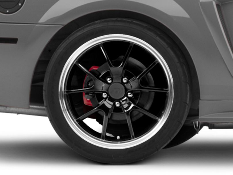 Deep Dish FR500 Style Black Wheel; Rear Only; 18x10 (99-04 All)