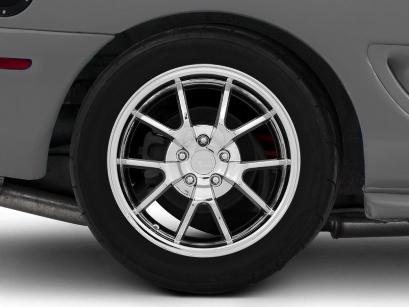 Deep Dish FR500 Style Chrome Wheel; Rear Only; 18x10 (94-98 All)