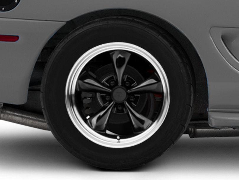 Deep Dish Bullitt Black Wheel; Rear Only; 17x10.5 (94-98 All)