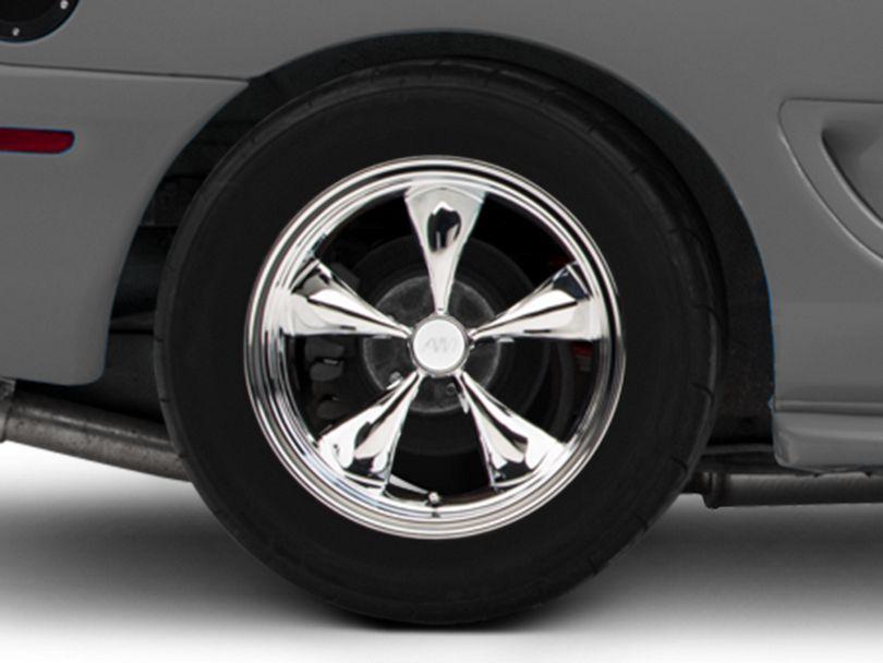 Deep Dish Bullitt Chrome Wheel - 17x10.5 - Rear Only (94-98 All)