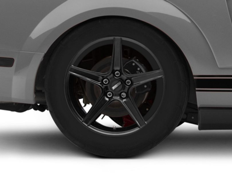 Saleen Style Black Wheel - 18x10 - Rear Only (05-09 GT, V6)