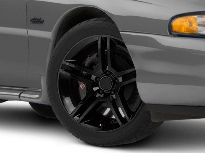 2010 GT500 Style Black Wheel; 18x9 (94-98 All)