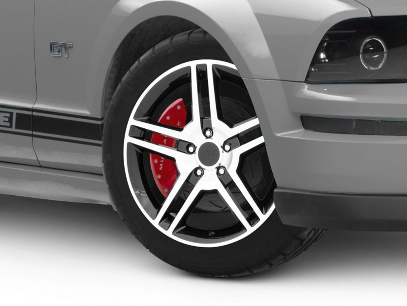 2010 GT500 Style Black Machined Wheel; 18x9 (05-09 All)