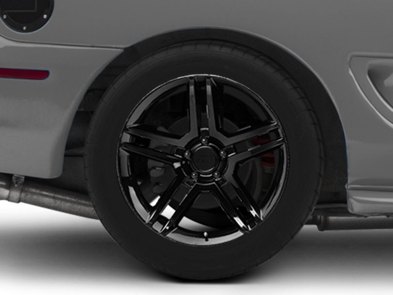 2010 GT500 Style Black Wheel; Rear Only; 18x10 (94-98 All)
