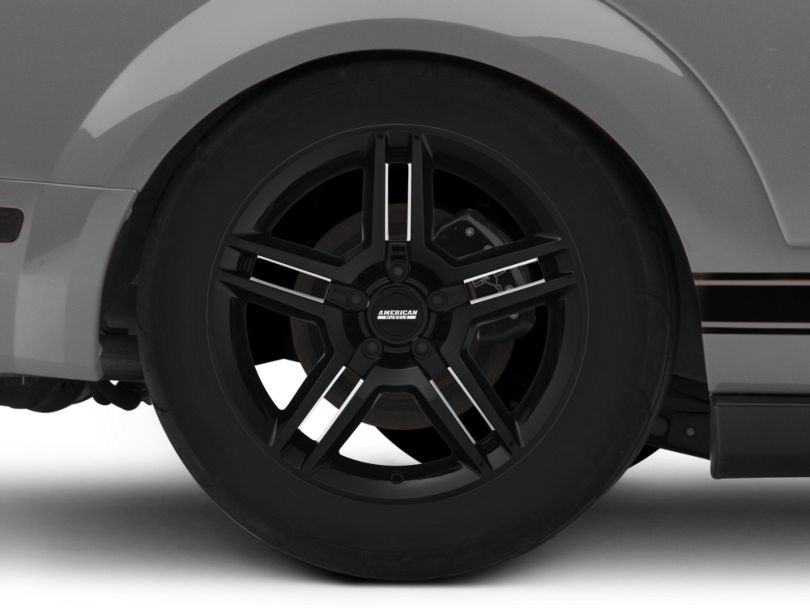 2010 GT500 Style Black Wheel - 18x10 - Rear Only (05-09 All)