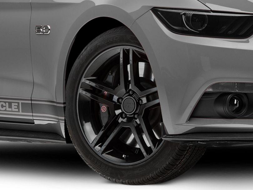 2010 GT500 Style Black Wheel; 19x8.5 (15-20 GT, EcoBoost, V6)