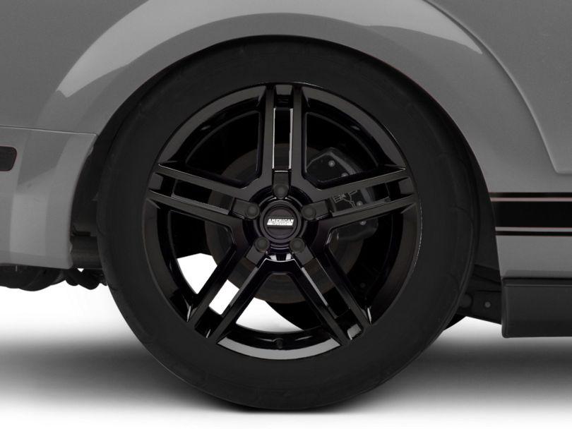 2010 GT500 Style Black Wheel - 19x10 - Rear Only (05-09 All)