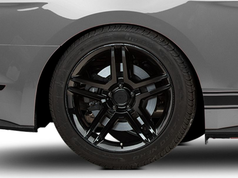 2010 GT500 Style Black Wheel; Rear Only; 19x10 (15-20 GT, EcoBoost, V6)