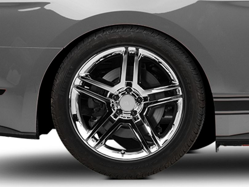 2010 GT500 Style Chrome Wheel - 19x10 - Rear Only (15-20 GT, EcoBoost, V6)