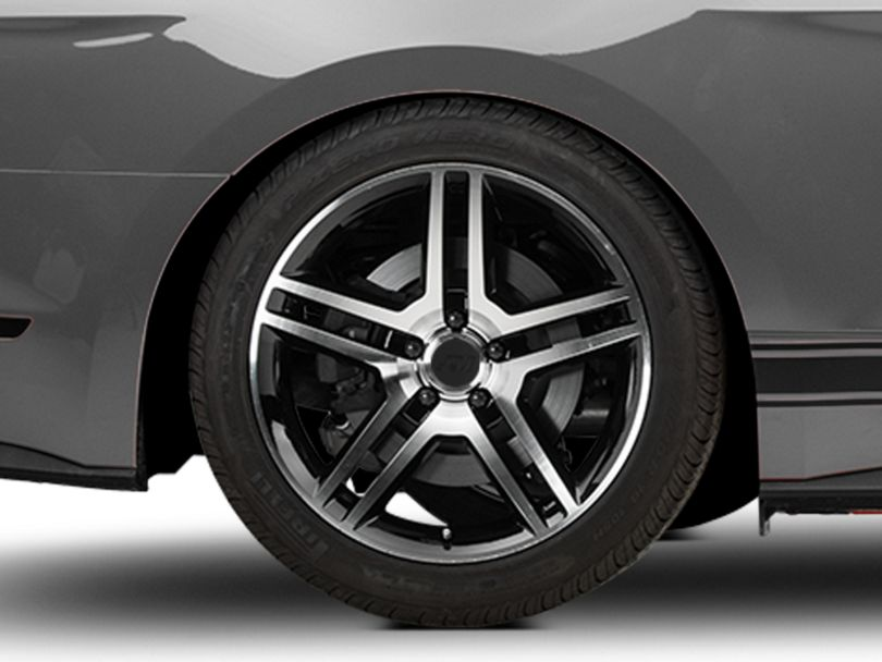 2010 GT500 Style Black Machined Wheel - 19x10 - Rear Only (15-19 GT, EcoBoost, V6)