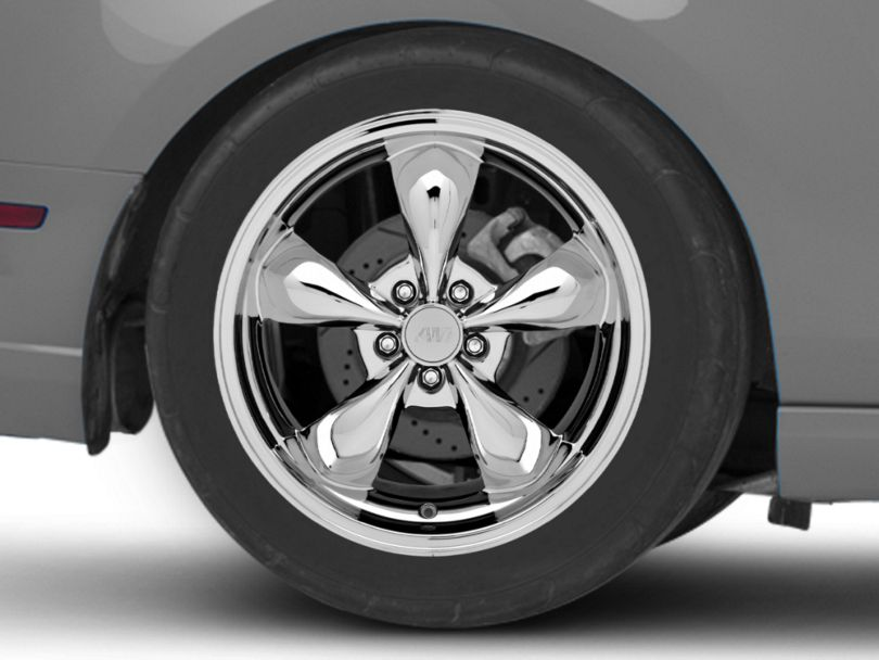 Deep Dish Bullitt Chrome Wheel; Rear Only; 19x10 (10-14 Standard GT, V6)