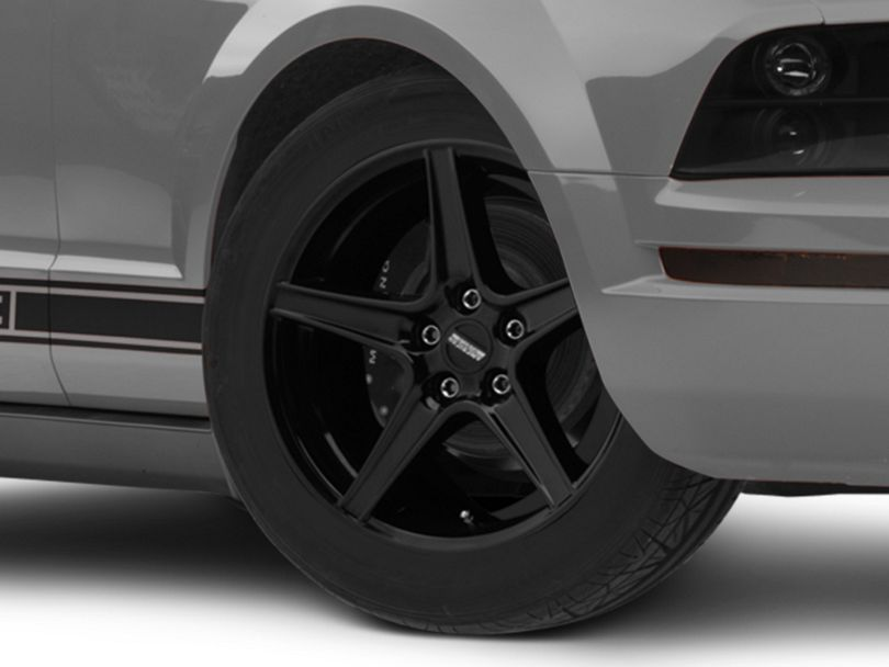 Saleen Style Black Wheel - 18x9 (05-09 GT, V6)